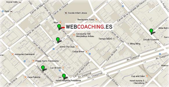 Mapa contacto y dirección WebCoaching